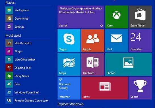Замена цвета «Панели задач» и меню «Пуск» в Windows 10