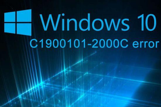 Ошибка c1900101-2000c в ОС Windows 10