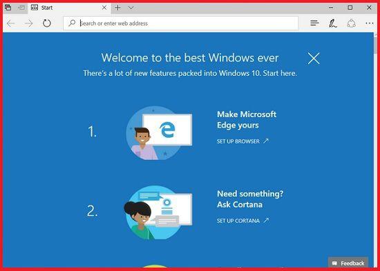 Отключаем приветственную страницу после обновления Windows 10