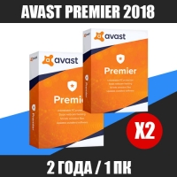Avast Premier 2018 - 2 года / 1 ПК