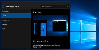 Установка темы для Магазина Windows