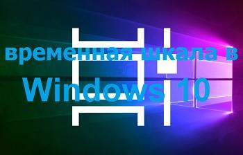 Временная шкала в Windows 10